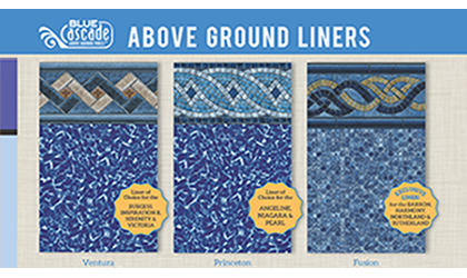 Blue Cascade Above-Ground Pool Liner Selections