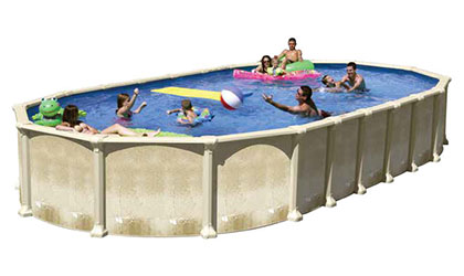 the Angeline Oval Aluminum Above-Ground Pool
