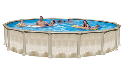 the Angeline Aluminum Above-Ground Pool