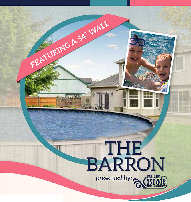 the Barron Aluminum   Above-Ground Swimming Pool