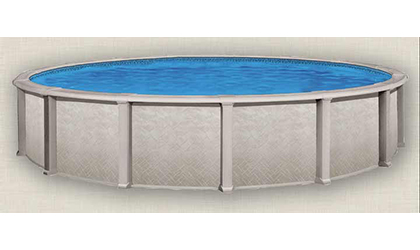 the Harmony Round Resin Above-Ground Pool