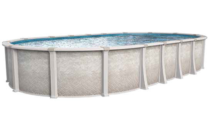 the Harmony Oval Resin Above-Ground Pool