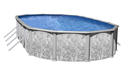 the Inspiration II Oval Above-Ground Steel Pool