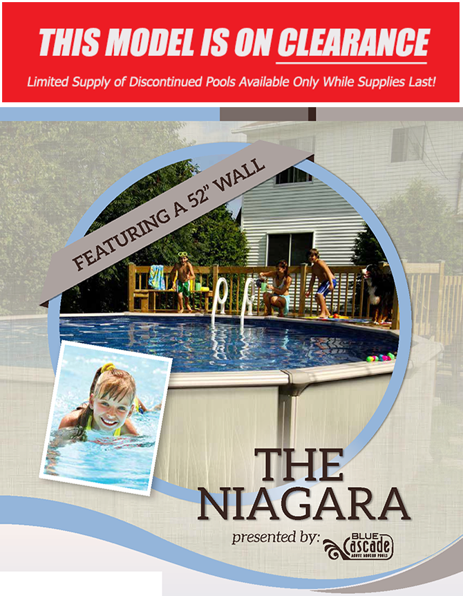 Resin Above Ground Pools | the Niagara | Blue Cascade Pools