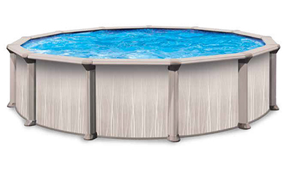 Resin above ground pools blue cascade pools - Above ground resin swimming pools ...