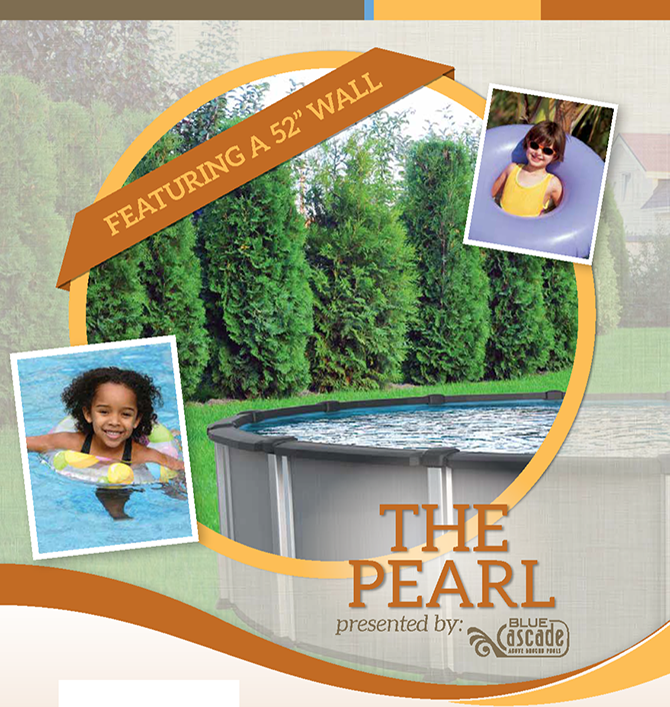 the Pearl Hyprid Above-Ground Swimming Pool