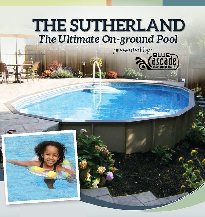 Semi Inground Pools The Sutherland Blue Cascade Pools